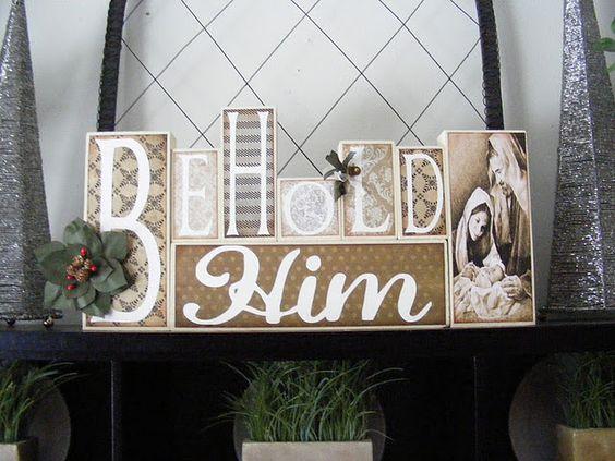 Christ blocks. Love this idea.  @Caroll Wilkins