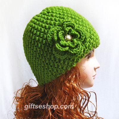 Farb-und Stilberatung mit www.farben-reich.com -  Knit Beanie Hat in green, Fall Fashion Wool Knit Hat