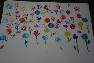 More flower printing. I like the colors used here.