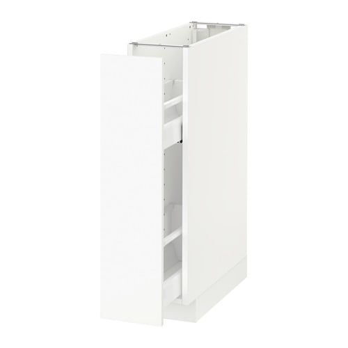 Metod Maximera Base Cabinet Pull Out Int Fittings White Kungsbacka Matt White 20x60 Cm Base Cabinets Ikea Cabinet Pull