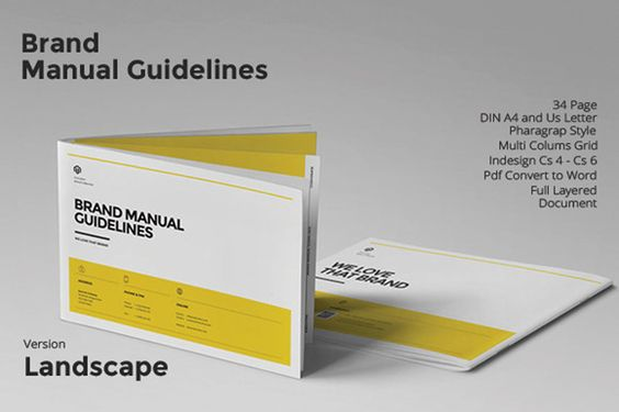Brand Manual Landscape by fahmie on Creative Market planing - business manual templates
