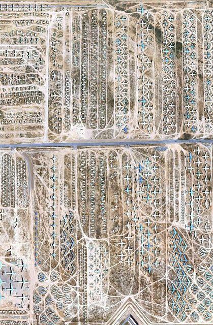 Aircraft graveyard at Davis-Monthan Air Force Base, near Tucson, Arizona