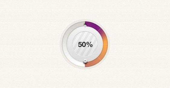 XOOplate :: Fashionable Circular Progress Bar PSD - Stylish web UI circular progress bar in PSD.