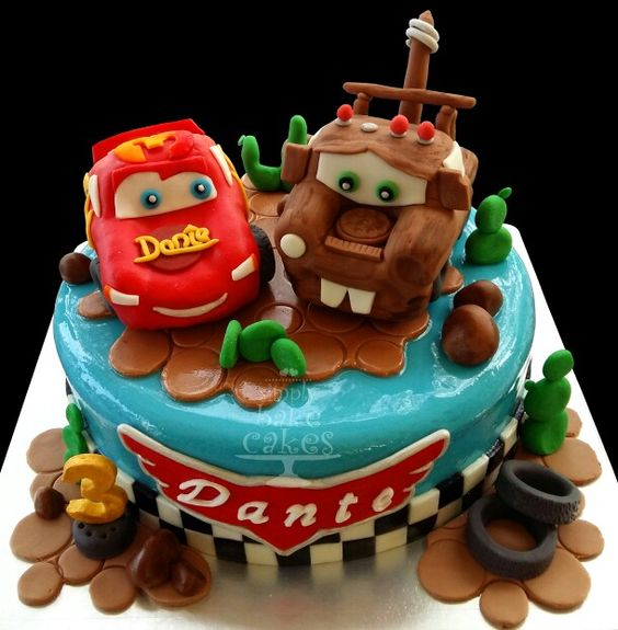 Cars Chocolate Cakes And Meringue On Pinterest