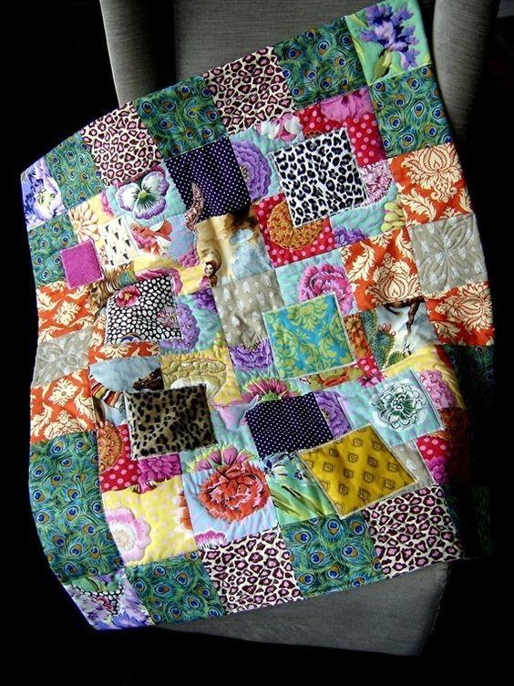 plaid patchwork multicolore tissu ancien color artisanal boh me gitan fleuri fleur lit. Black Bedroom Furniture Sets. Home Design Ideas