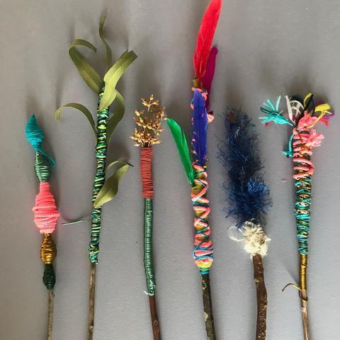 MAGIC NATURE WANDS | Camping crafts for kids, Magic wand craft ...