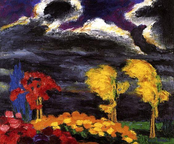 Autumn Glow Emil Nolde - 1925: