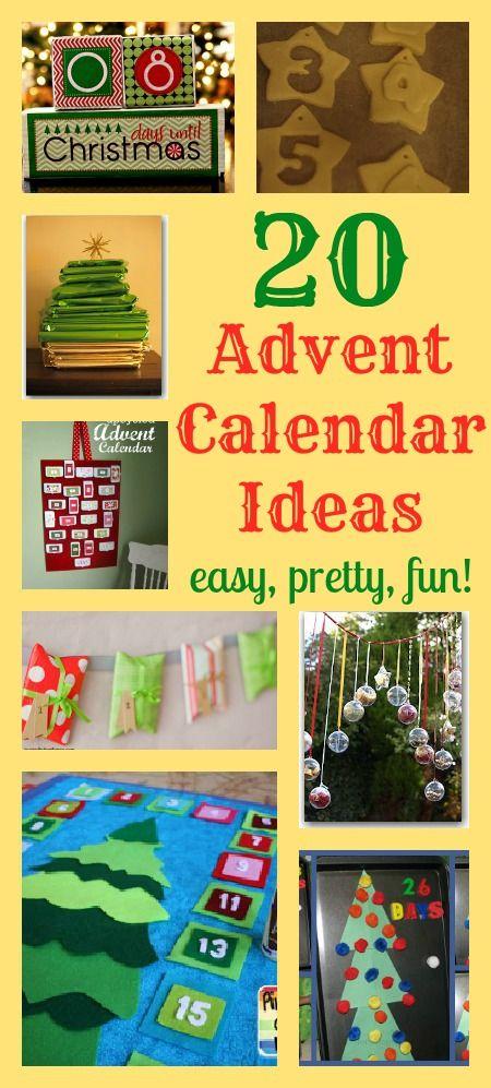 Great Calendar Ideas : Great advent calendar ideas diy advents calendars