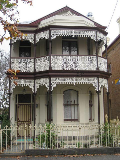 House Victorian Terrace Melbourne Victoria Victorian Lace Victoria