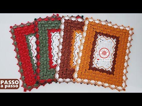 Jogo Americano Em Croche Modelo Coringa Passo A Passo Youtube Jogo Americano De Croche Sousplat De Croche Quadrado Sousplat De Croche Grafico