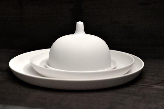 tableware white, pure, handmade, set design hande made by artdentity