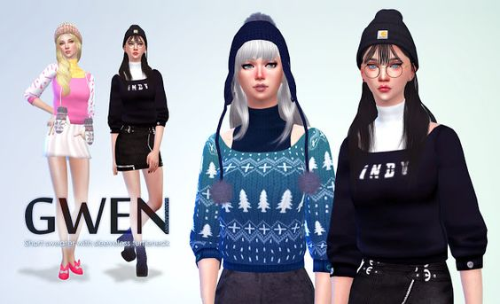 Sims 4 CC's - The Best: Sweater by Manueapinny
