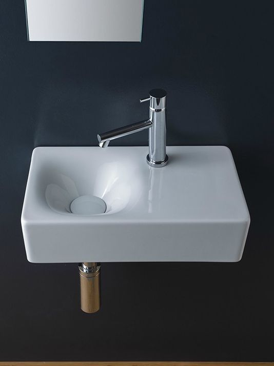 Ten Stylish And Compact Sink Solutions For Small Bathrooms Wall Mounted Bathroom Sinks Small Bathroom Sinks Bathroom Sink