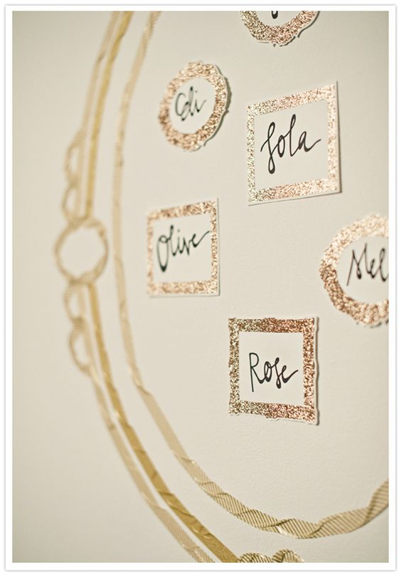 metallic, whimsical way to do table assignments #LillyPulitzer #SouthernWeddings