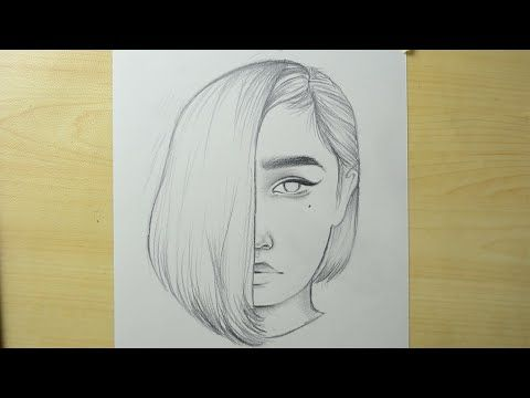 تعليم الرسم بالرصاص Youtube In 2020 Girl Face Long Hair Girl Step By Step Drawing