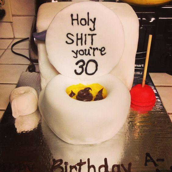 Dirty Thirty Fun Guys 30th Birthday Gift I Ll Need: 30th Birthday Cake Preparing For My Son's Birthday On The