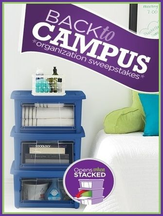 Rubbermaid Back To Campus Sweepstakes WIN an All Access Stackable Organizer Ends 9/9