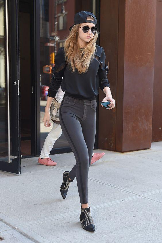 Anine Bing Studded Boots Gigi Hadid: