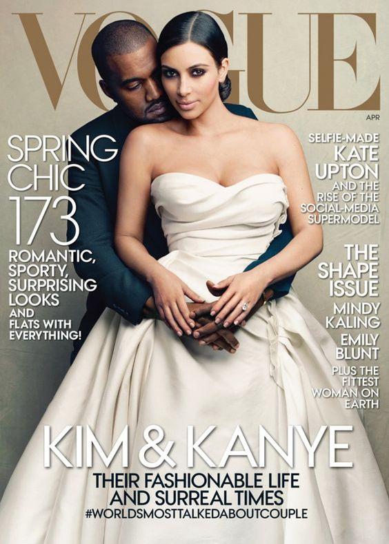 Pin for Later: Zeigt uns Lauren Conrad endlich ihre dunkle Seite? Vogue April 2014 Kanye West und Kim Kardashian fotografiert von Annie Leibovitz. Source: Vogue