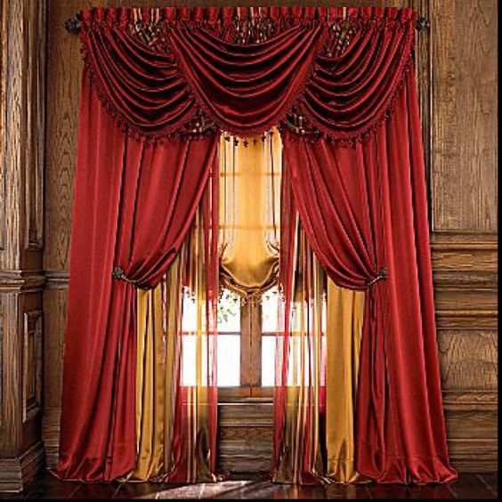 and more the gold drapery ideas curtains ivory gold middle red home