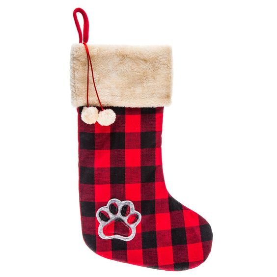 Get Buffalo Check Paw Print Stocking Online Or Find Other Stockings Products From Hobbylobby Com Christmas Stockings Stockings Unique Stockings