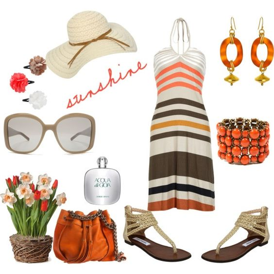 tangerine, created by kathyborie7 on Polyvore