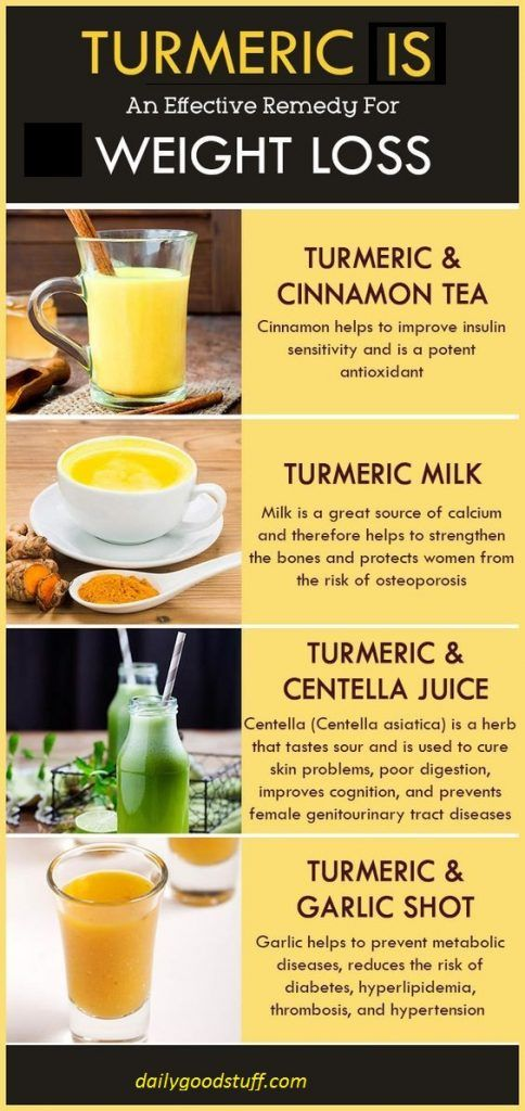how to weight loss with turmeric