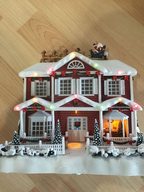Story-telling House Christmas Lighted And Musical