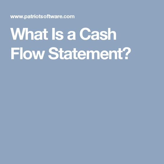 What Is A Cash Flow Statement  Accounting    Cash