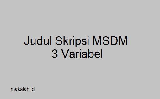 Proposal Skripsi Manajemen Sdm