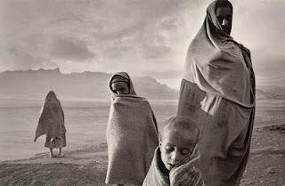 Refugees in the Korem camp  Ethiopia, 1984.  Sad. Beautiful. Emotional.
