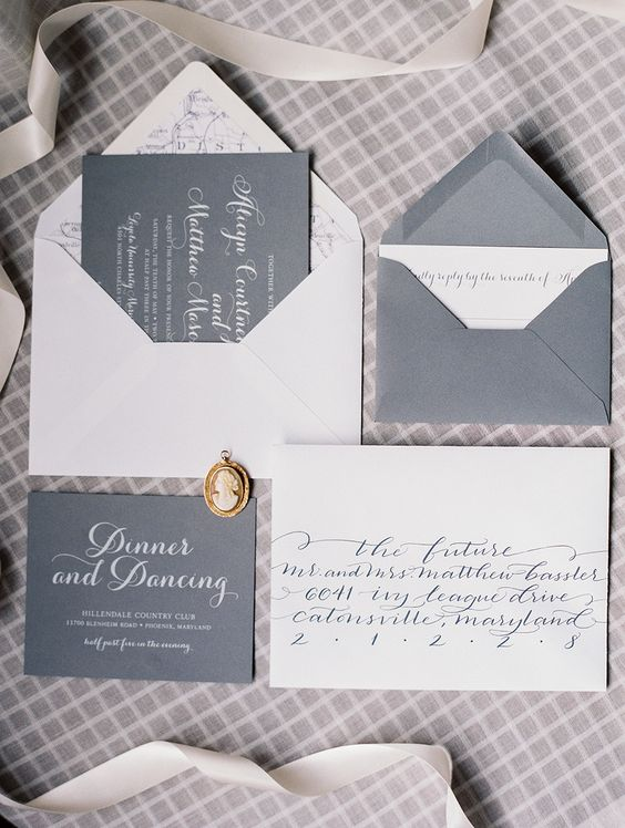 Calligraphy invitation set and read more on pinterest Calligraphy baltimore