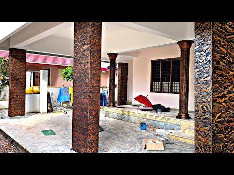 New Exterior Pillars Texture Designing Simply Cement Pillars Design Asian Paints And Jotun Paints Y Exterior Wall Design House Designs Exterior Pillar Design