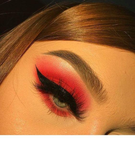It Is Hot Red Eyeshadow Looks In 2020 Colorful Eye Makeup Baddie Makeup Eye Makeup