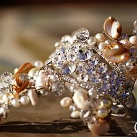 a stunning crystal rhinestone, shell, pearl, Swarovski crystal and wire wrapped bracelet - free form exotic bracelet!