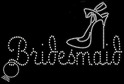 Bridesmaid with High Heel Stiletto and Engagement by BibbidiBling, $8.50 DIY bridemaids shirts