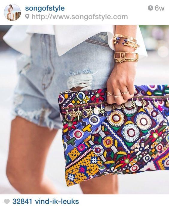 Instagram inspiration - Fashion - Streetstyle - Festival - Boho - Bohemian - Clutch - Statement