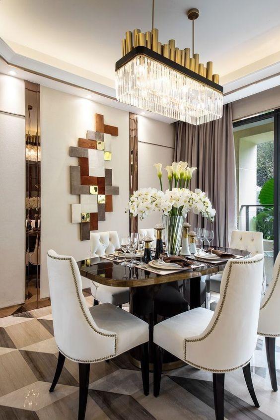 25 Dazzling Glam Dining Room Ideas For Elegant Look Luxury Dining Room Elegant Dining Room Dining Room Design Modern