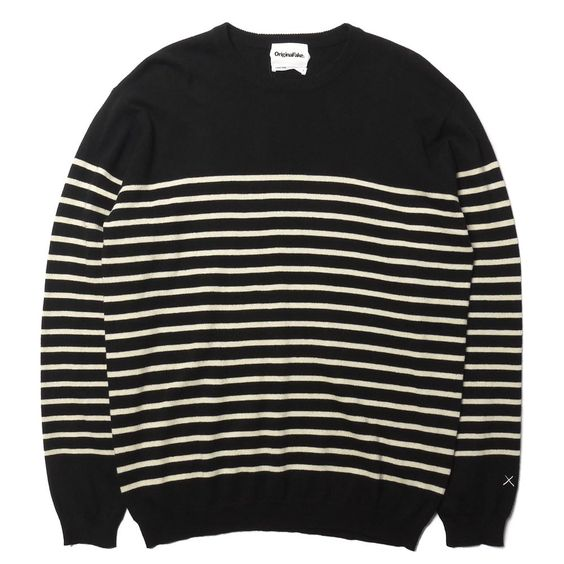 Black Nautical Striped Sweater