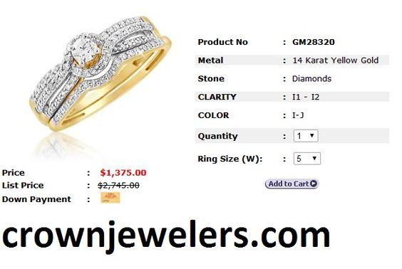 Bridal Sets: 14KT 0.51 CTTW ROUND DIAMOND TWIST & TWIRL BRIDAL SET
