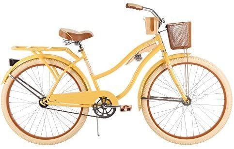 Amazon Com 26 Huffy Nel Lusso Women S Cruiser Bike Banana Yellow Sports Outdoors In 2020 Schwinn Bike Cruiser Bike Bike