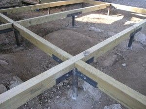 Pier and beam foundations are one of the most common types Metal piers for housing