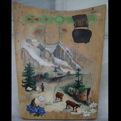 Poya savoie savoyard peinture cr ation sur bois for Peinture sur fer