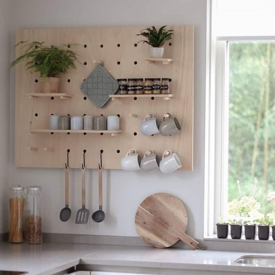 pegboard in de keuken