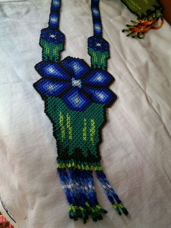 flor azul flat