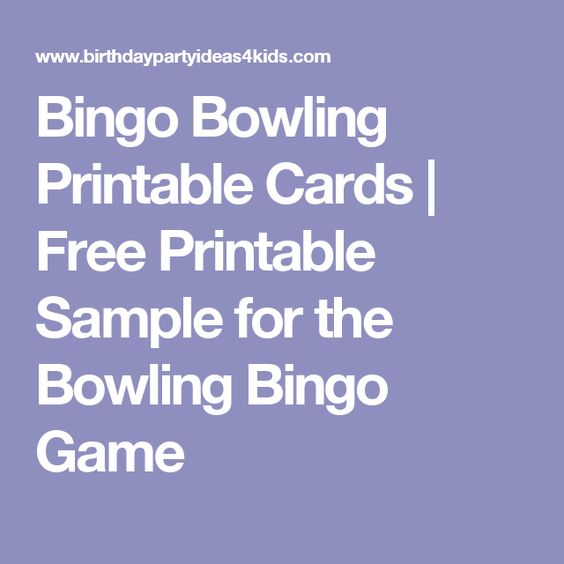 Bingo Bowling Printable Cards Free Printable Sample for the - bowling score sheet