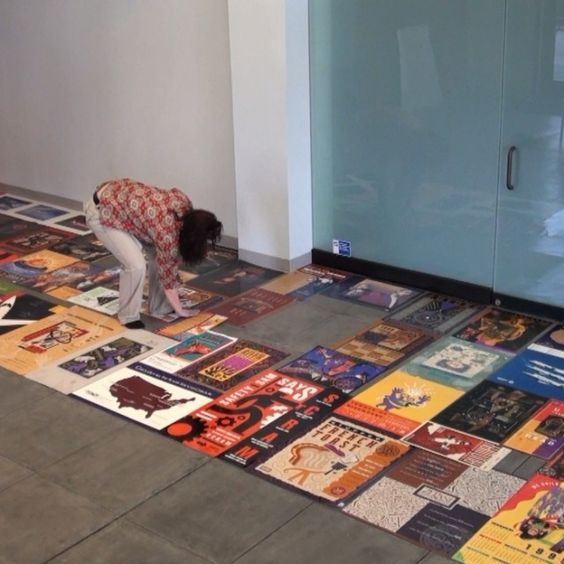 We're getting prepared for our 25th anniversary party by setting up over 2 decades worth of posters! #GG25 #posters #design