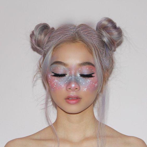 Idées de maquillage halloween femme à copier - fée