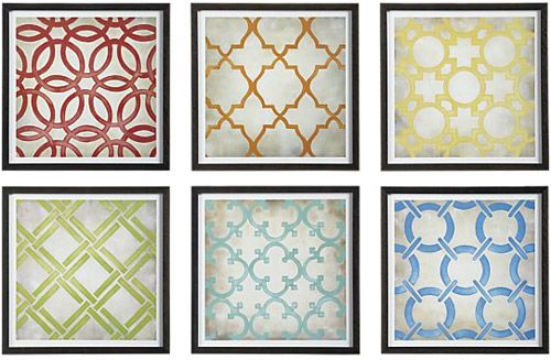 Can totally DIY this with record album frames, Cricut, and scrapbook paper. $369