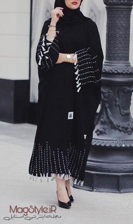مدل مانتو طرح عبا بلند زنانه 2019 جدید Abaya Fashion Dubai Abayas Fashion Abaya Fashion